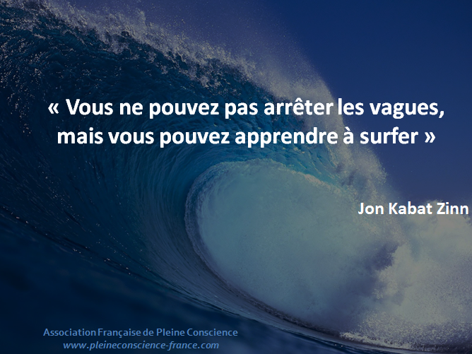vous ne pouvez arrêter les vagues, mais vous pouvez apprendre à surfer